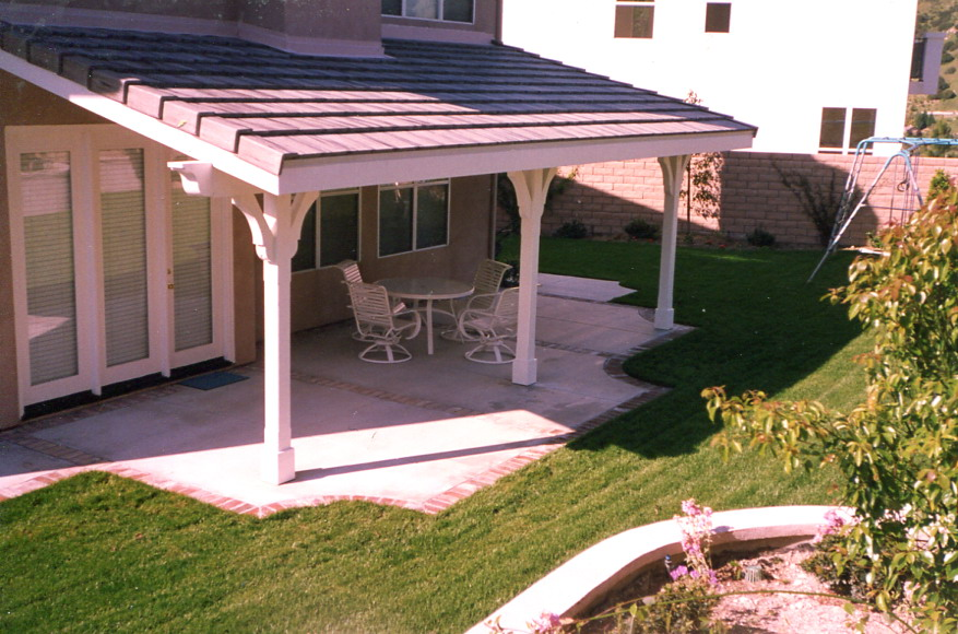 Detached patio cover outdoor goods for Detached covered patio plans